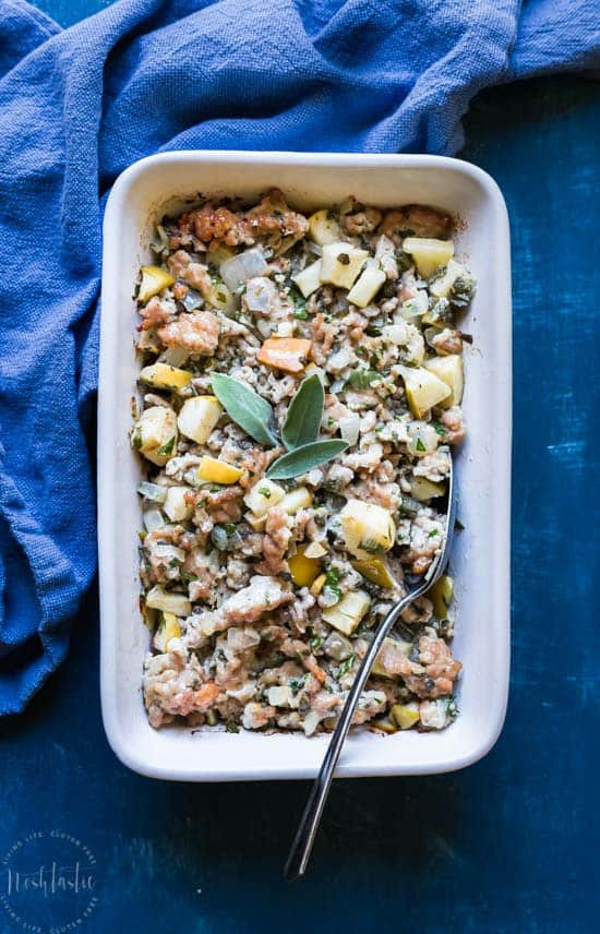 Paleo Thanksgiving Dinner  Paleo Thanksgiving Stuffing with Pork Sage and Apple