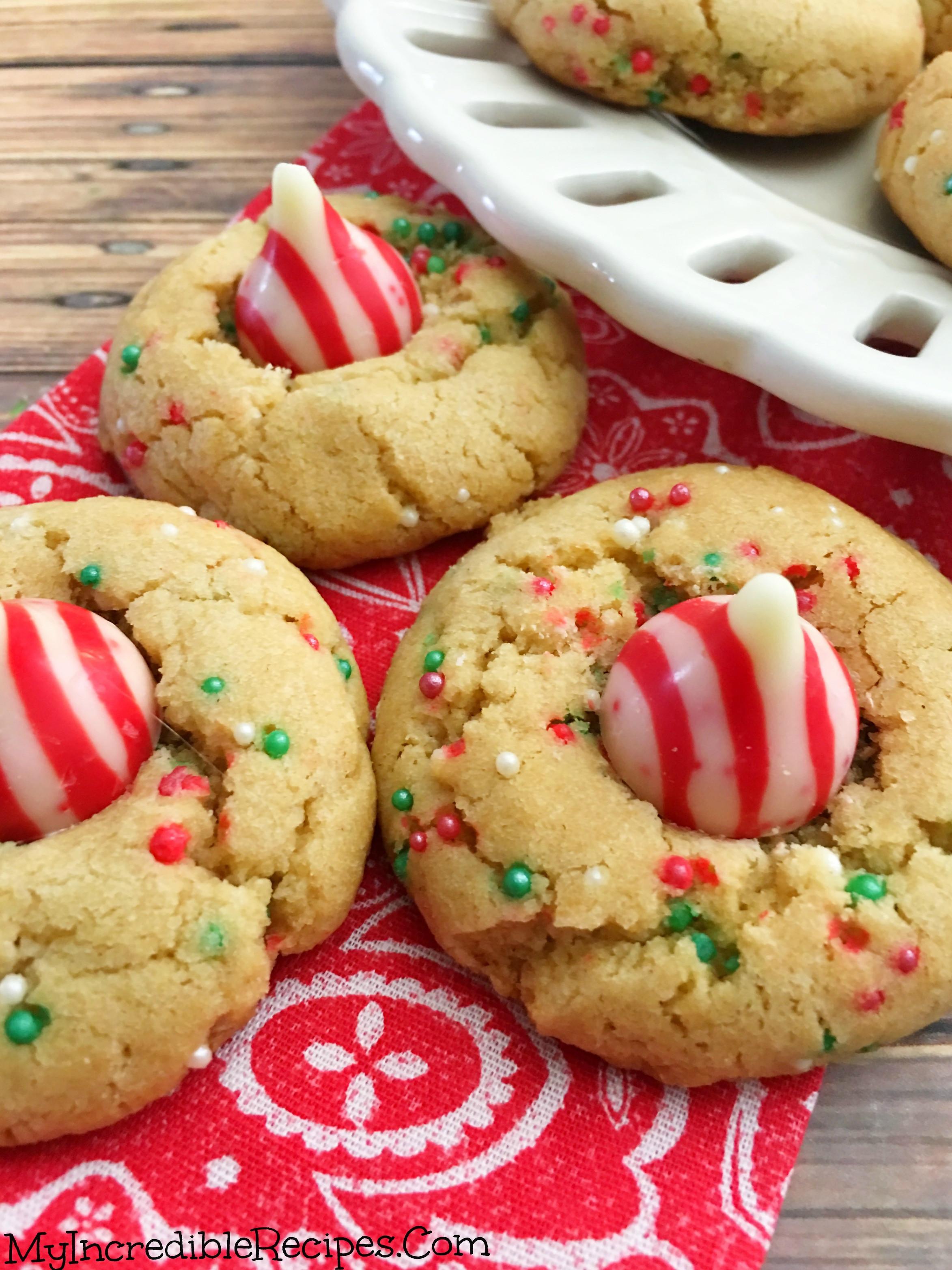 Peanutbutter Christmas Cookies  Peanut Butter Christmas Cookies