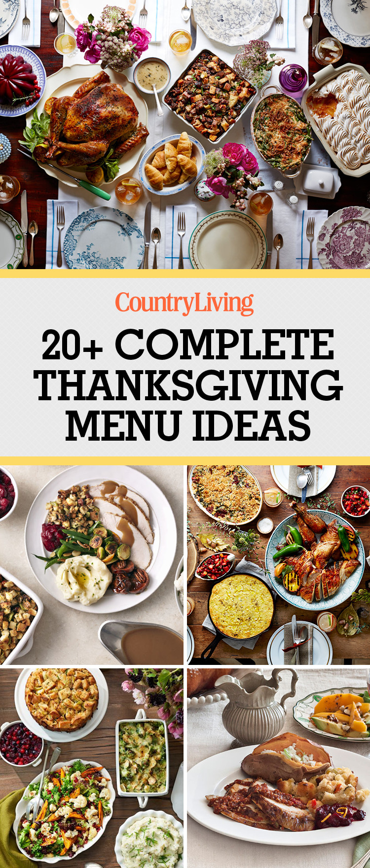 Photos Of Thanksgiving Dinners  26 Thanksgiving Menu Ideas Thanksgiving Dinner Menu Recipes