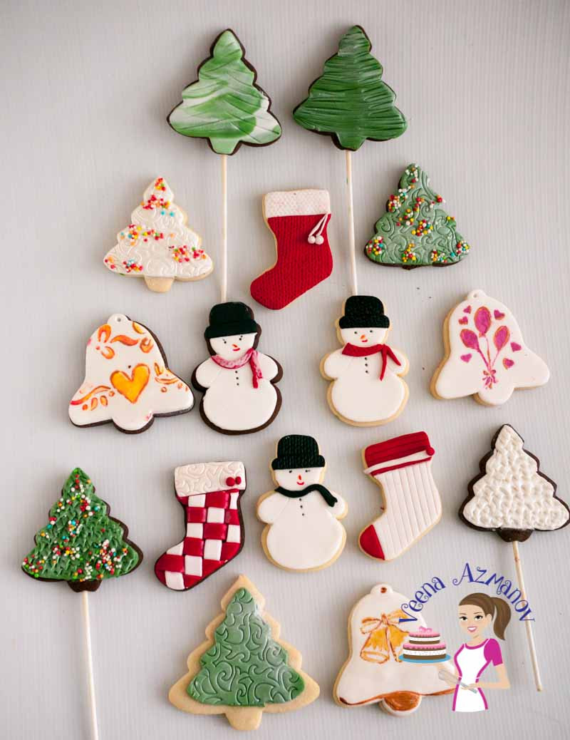Pictures Of Christmas Cookies Decorated  Christmas Cookie Decorating with Fondant Tutorial Video