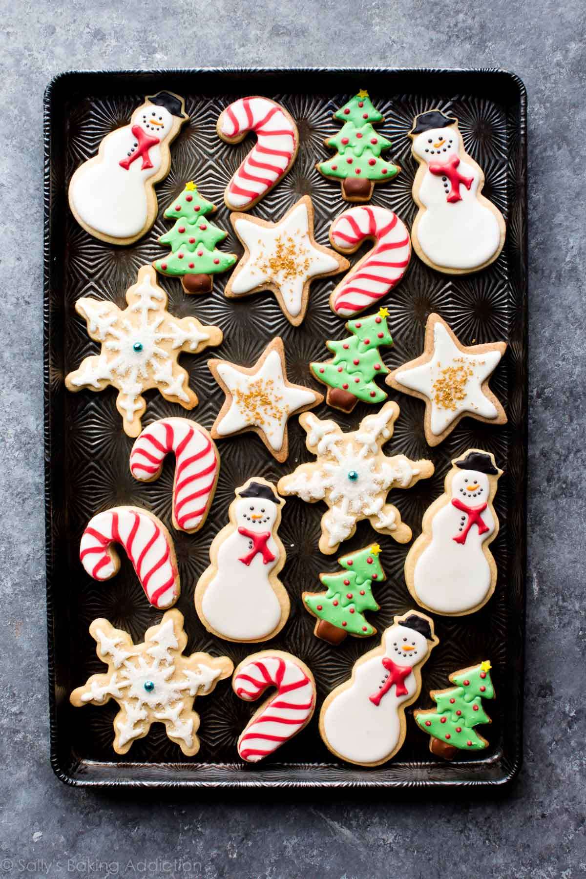 Pictures Of Christmas Cookies Decorated  1 Sugar Cookie Dough 5 Ways to Decorate Sallys Baking