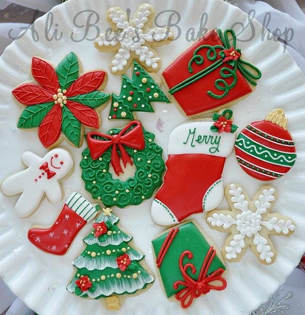 Pictures Of Christmas Cookies Decorated  Tour of Christmas Cookies – The Sweet Adventures of Sugar