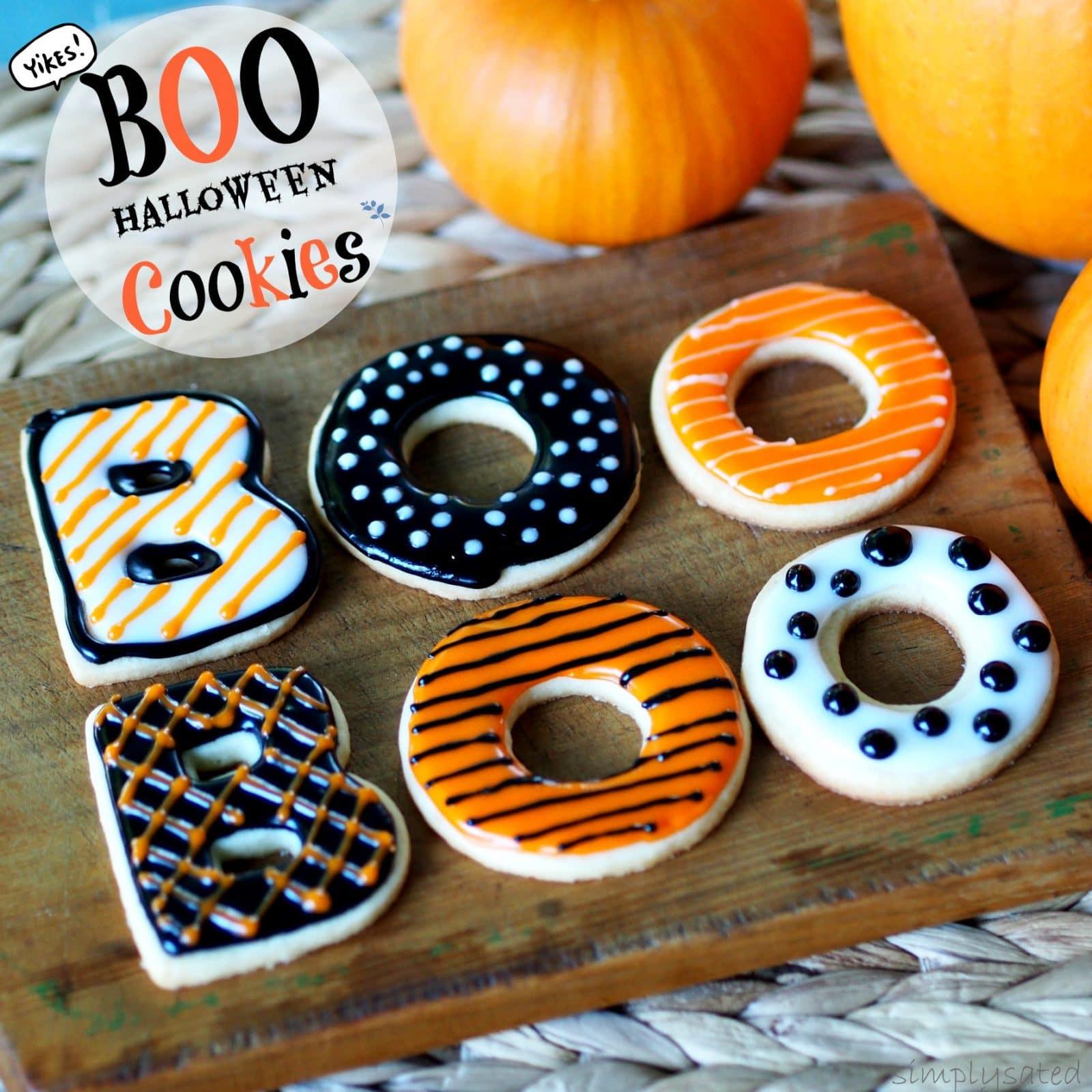 Pictures Of Halloween Cookies  BOO Halloween Cookies
