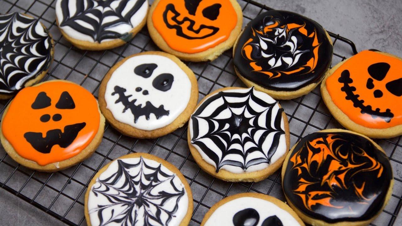 Pictures Of Halloween Cookies  Recette des biscuits d Halloween Halloween Cookies