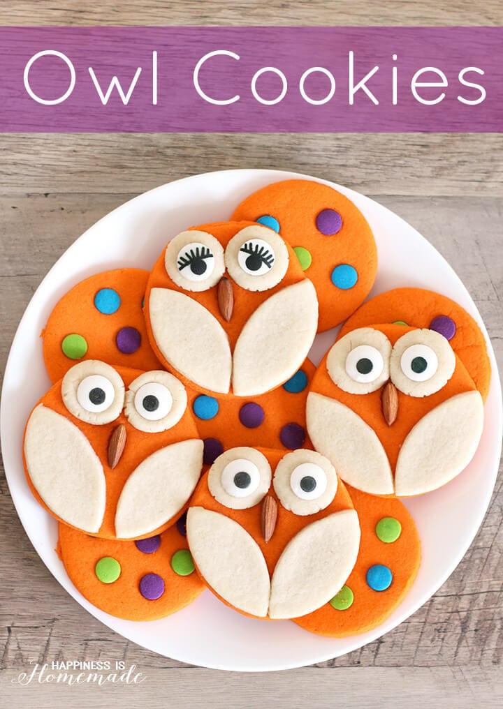 Pictures Of Halloween Cookies  Halloween Baking Owl Cookies Happiness is Homemade