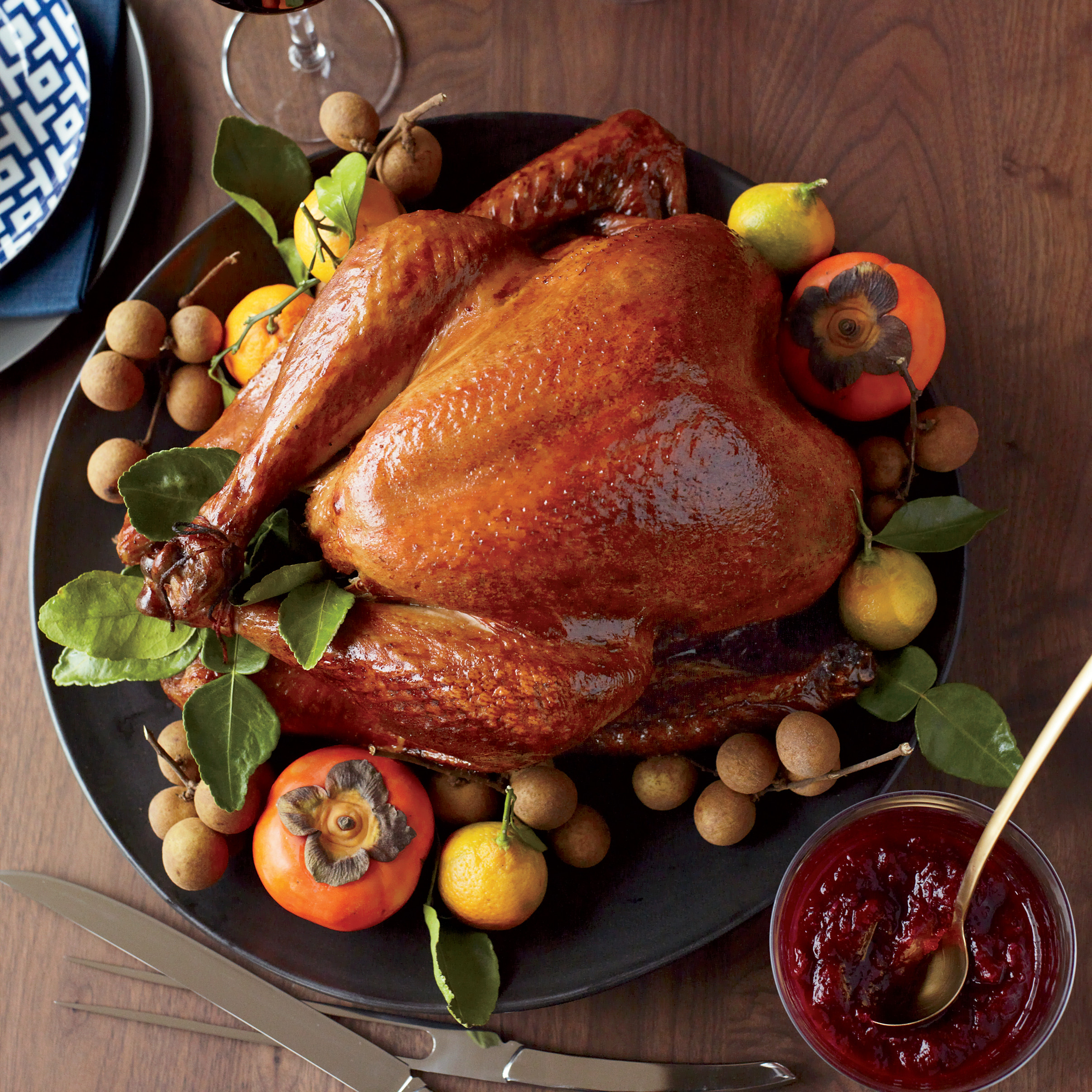 Pictures Of Thanksgiving Turkey Dinner  Soy Sauce and Honey Glazed Turkey Recipe Joanne Chang