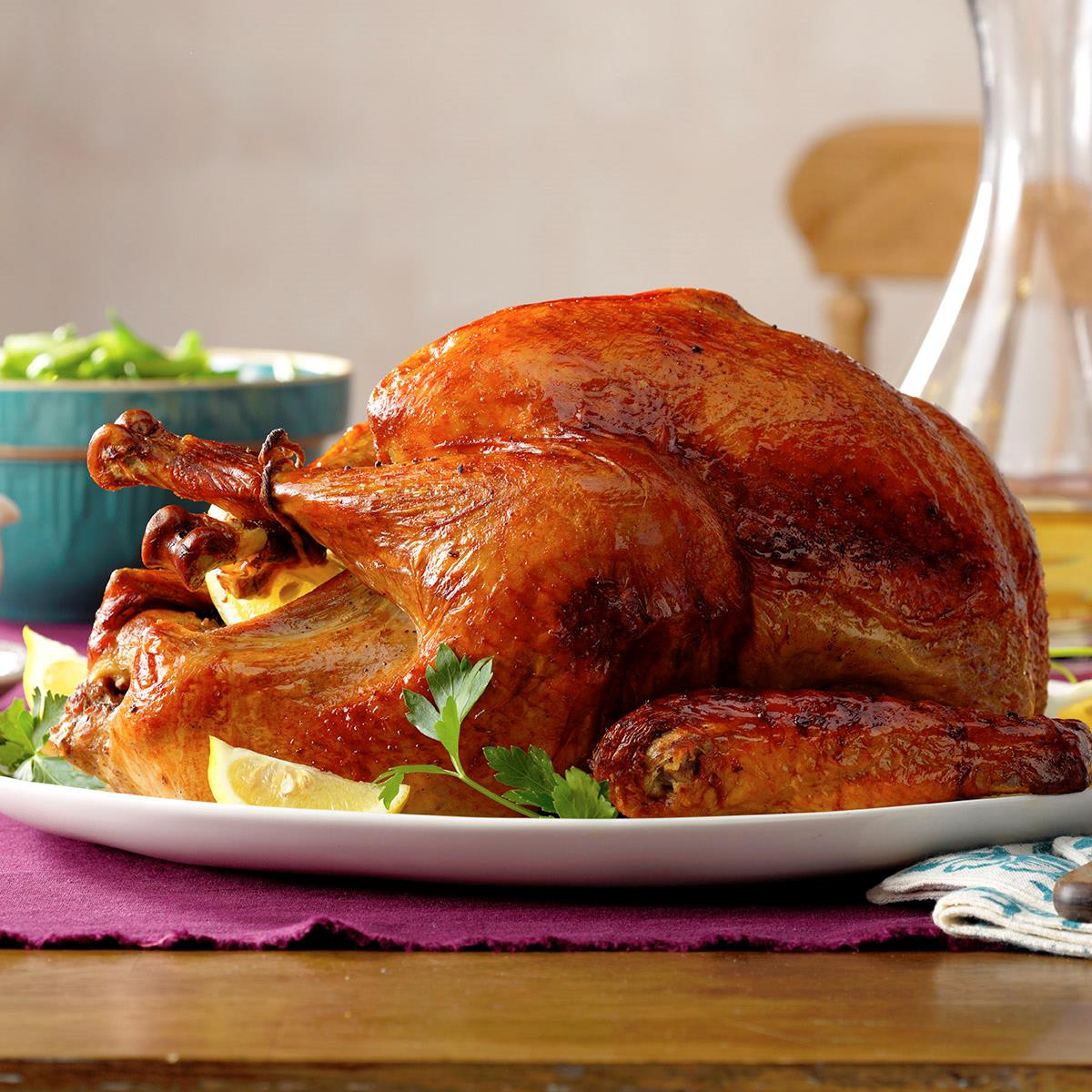 Pictures Of Turkey For Thanksgiving  Marinated Thanksgiving Turkey Recipe