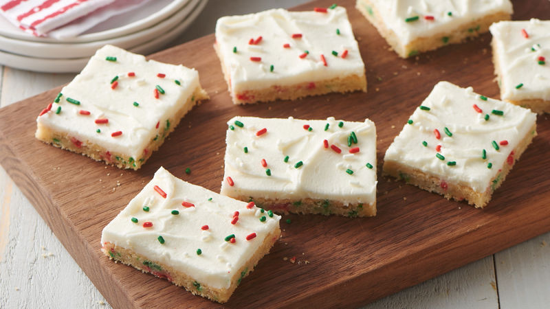 Pillsbury Christmas Cookies Recipe  Easiest Ever Holiday Sugar Cookie Bars Recipe Pillsbury