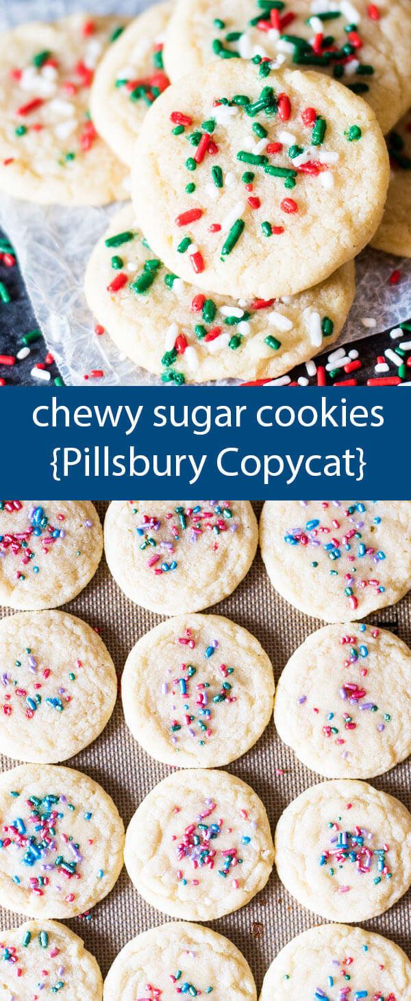 Pillsbury Christmas Cookies Recipes  Chewy Sugar Cookies Recipe Pillsbury Copycat Easy Sugar