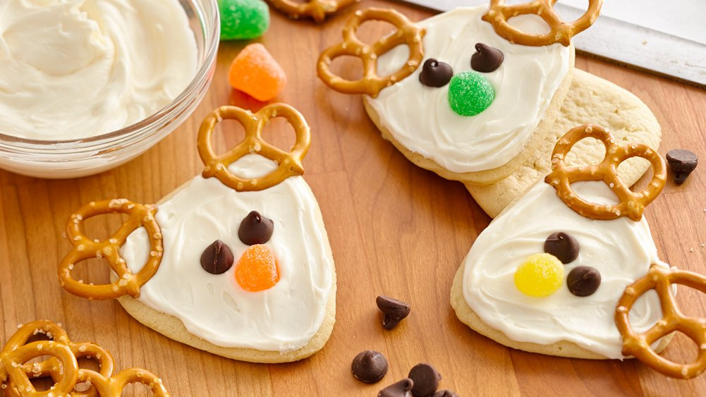 Pillsbury Christmas Cookies Recipes  Frosted Reindeer Cookies recipe from Pillsbury