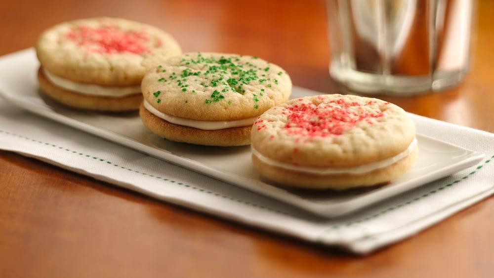 Pillsbury Christmas Cookies Recipes  Christmas Sugar Cookie Sandwich Cookies recipe from