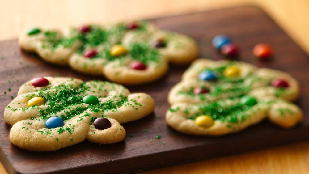 Pillsbury Christmas Sugar Cookies  Swirly Christmas Tree Cookies recipe from Pillsbury