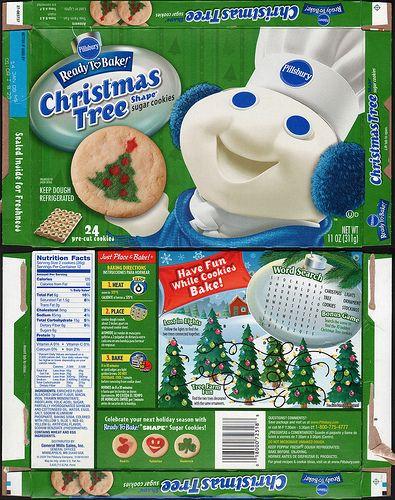 Pillsbury Christmas Sugar Cookies  Pillsbury Ready to Bake Christmas Tree Shape Sugar Cookies