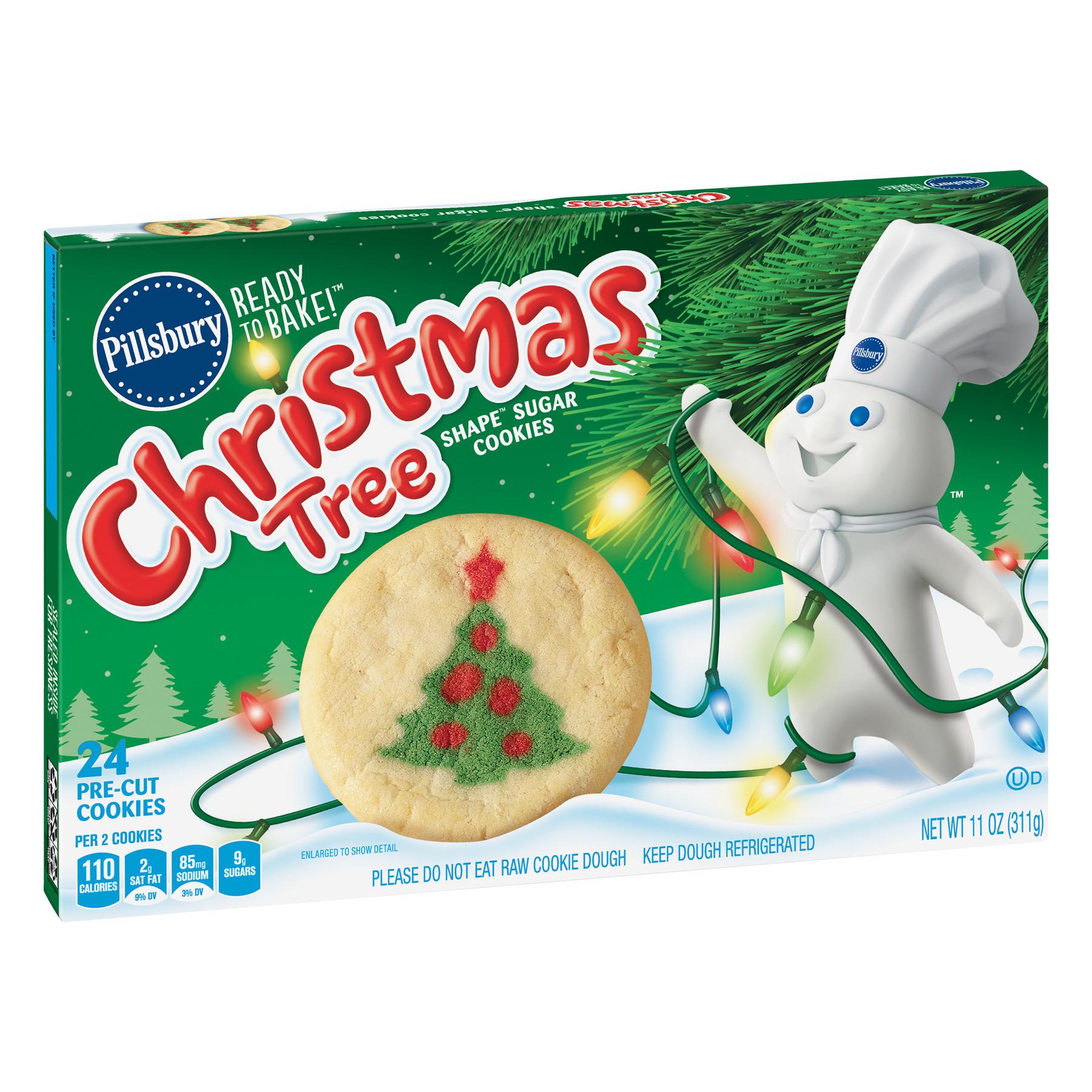Pillsbury Christmas Sugar Cookies  Pillsbury Ready to Bake Christmas Tree Shape Sugar