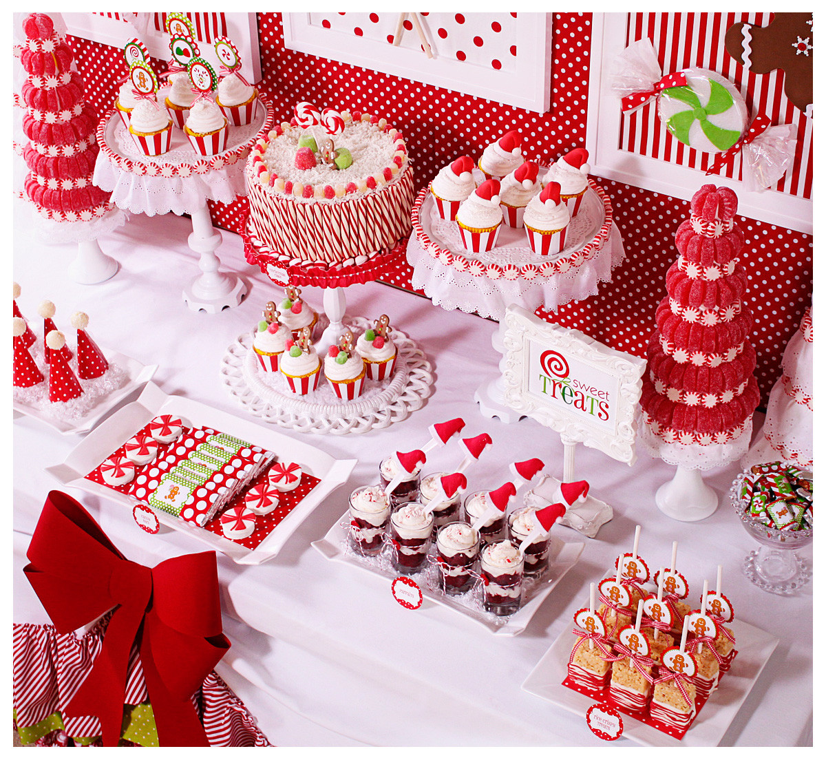 Pinterest Christmas Candy  Amanda s Parties To Go Candy Christmas Dessert Table