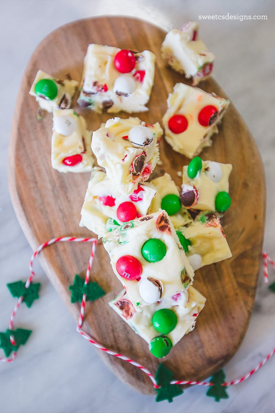 Pinterest Christmas Candy  Christmas Candy Cookie Dough Fudge