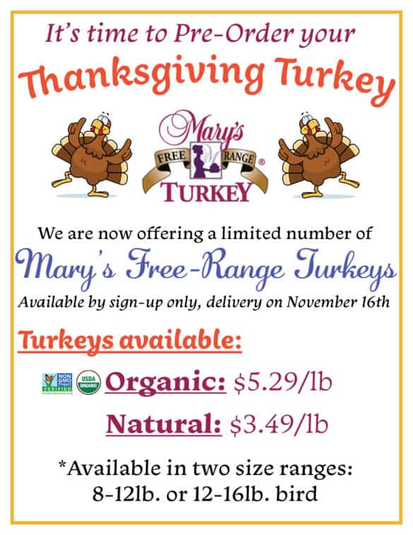 Pre Order Thanksgiving Turkey  Pre Order your Thanksgiving Turkey Today