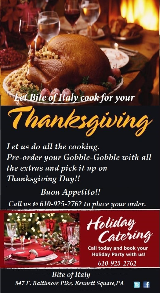 Pre Order Thanksgiving Turkey  Skip the Cooking This Holiday Book Bite of Italy to Cook