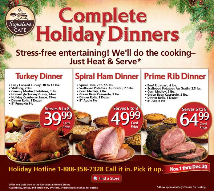 Precooked Thanksgiving Dinner  safeway christmas turkey dinner 2011
