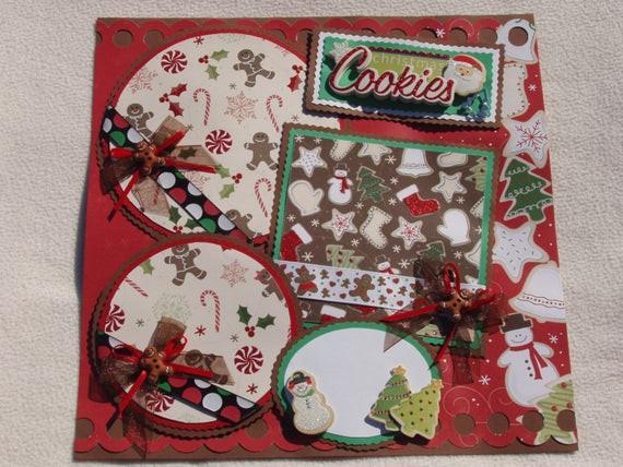 Premade Christmas Cookies  Christmas Cookies Baking Santa Gingerbread 12x12 Premade
