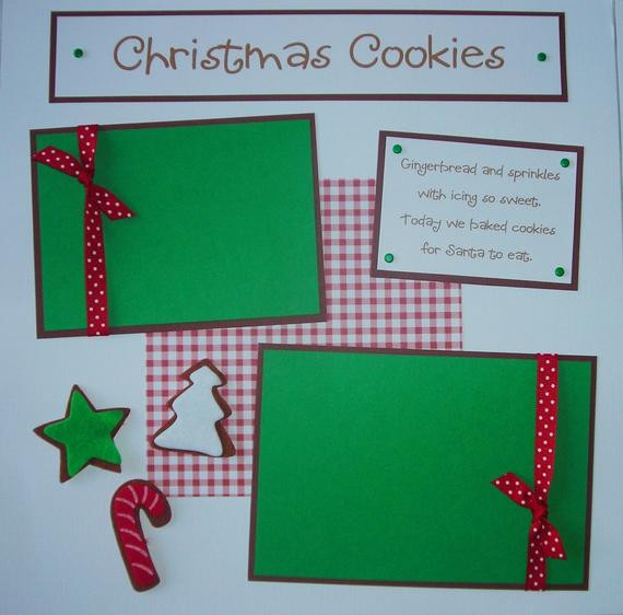 Premade Christmas Cookies  ChRiSTmAs CooKiEs 12x12 Premade Scrapbook Pages by