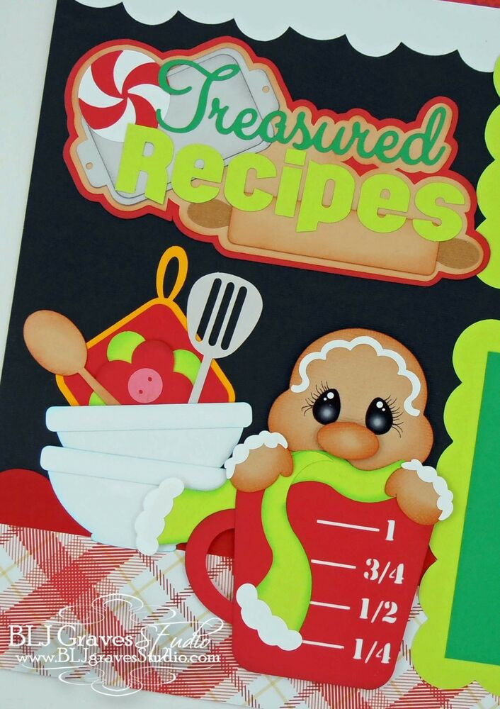 Premade Christmas Cookies  CraftEcafe Premade Scrapbook Pages Paper Piecing Christmas