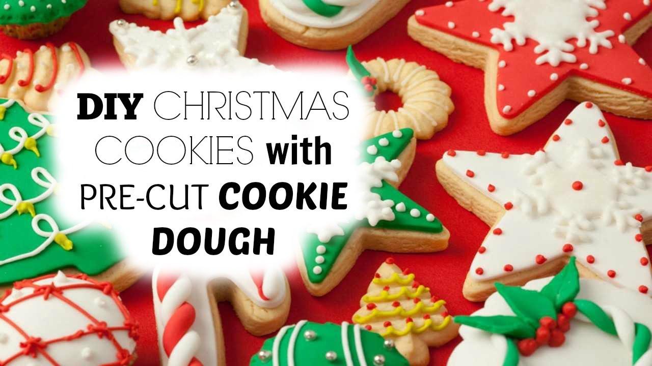 Premade Christmas Cookies  DIY Homemade Christmas Cookies using Pre Cut Cookie Dough