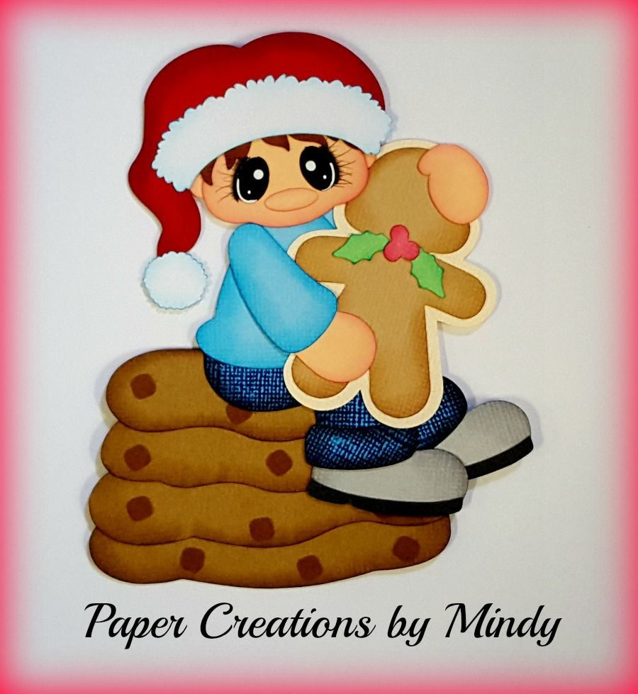 Premade Christmas Cookies  Craftecafe Mindy Christmas Cookies boy premade paper