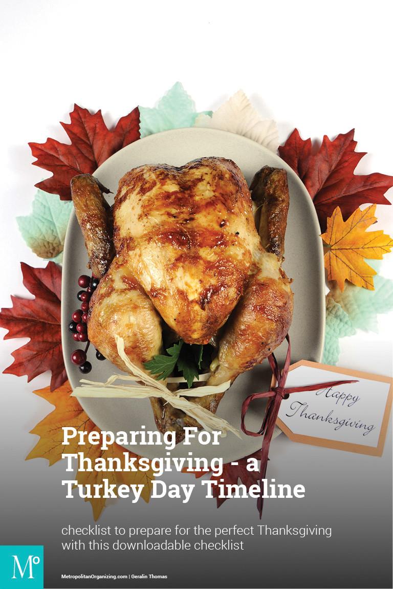 Prepare A Turkey For Thanksgiving  Turkey Day Timeline Checklist Preparing For Thanksgiving