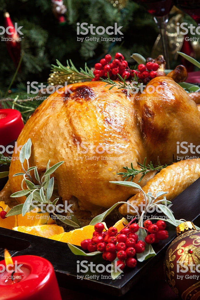Prepared Christmas Dinners To Go  Christmas Turkey Prepared For Dinner Stock & More