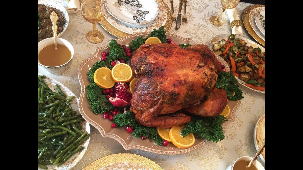 Prepared Thanksgiving Turkey  How to prepare Thanksgiving Turkey I طريقة تحضير الديك