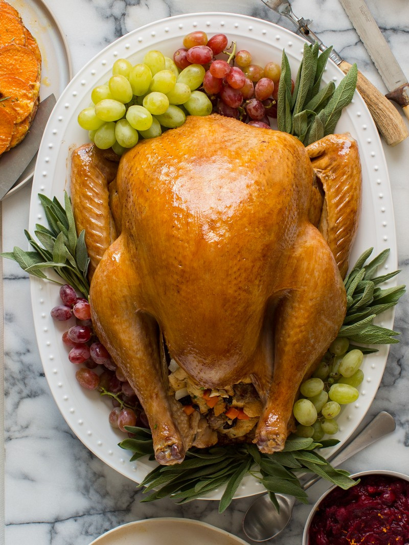 Prepared Turkey For Thanksgiving  Citrus and Herb Roasted Turkey Thanksgiving