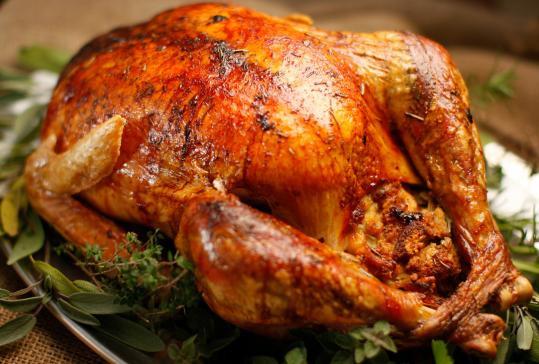 Prepared Turkey For Thanksgiving  Oven Roasted Turkey