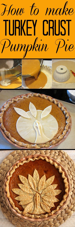 Pumpkin Pie Thanksgiving  Adorable Turkey Crust Pumpkin Pie Recipe