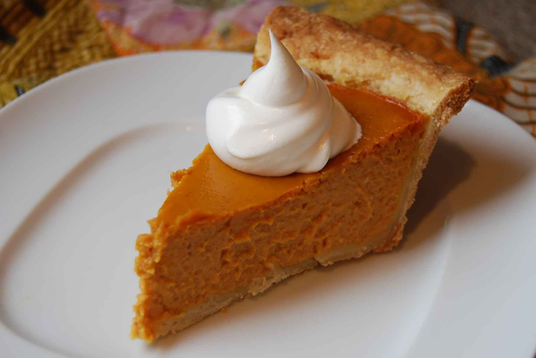 Pumpkin Pie Thanksgiving  Pumpkin Pie Eggless