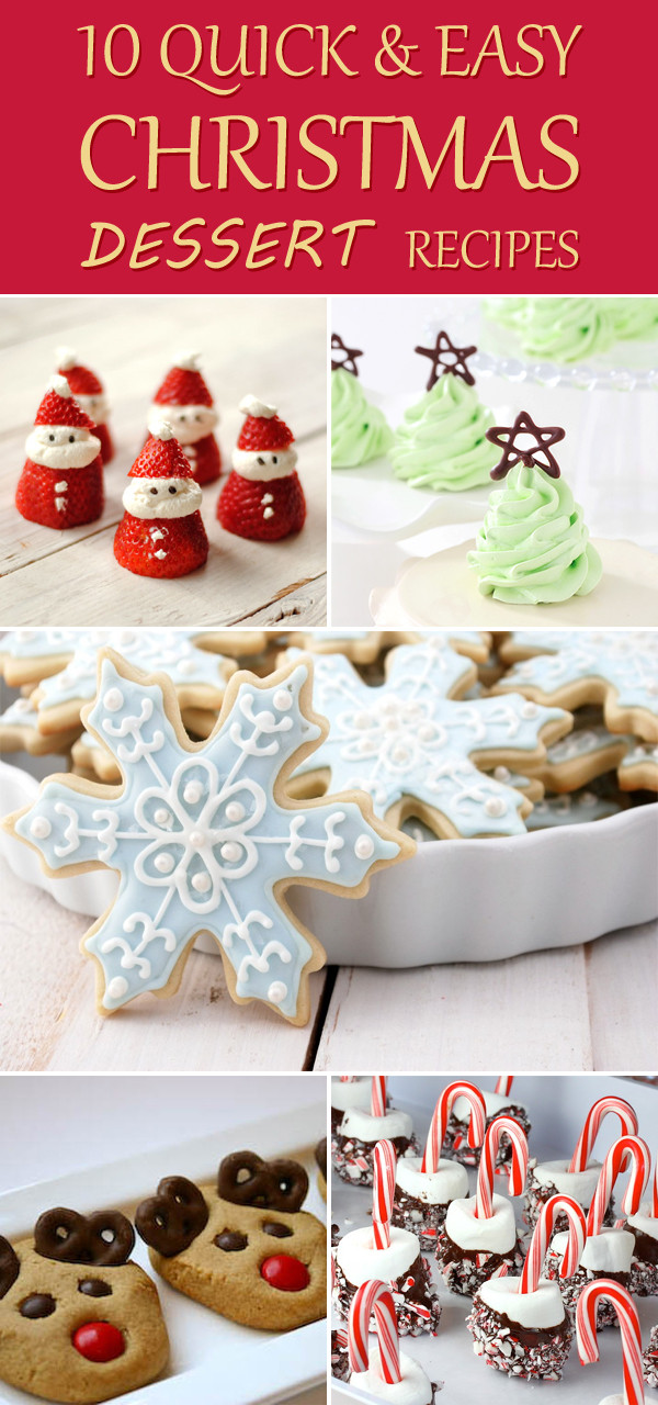Quick And Easy Christmas Cake Recipes  10 Quick And Easy Christmas Dessert Recipes
