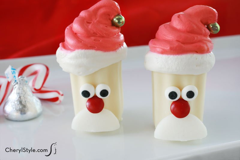 Quick Christmas Desserts  No Bake Mini Santa Desserts Recipe
