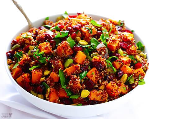 Quinoa Thanksgiving Recipe  Quinoa Stuffing Butternut Squash Quinoa w Cranberries