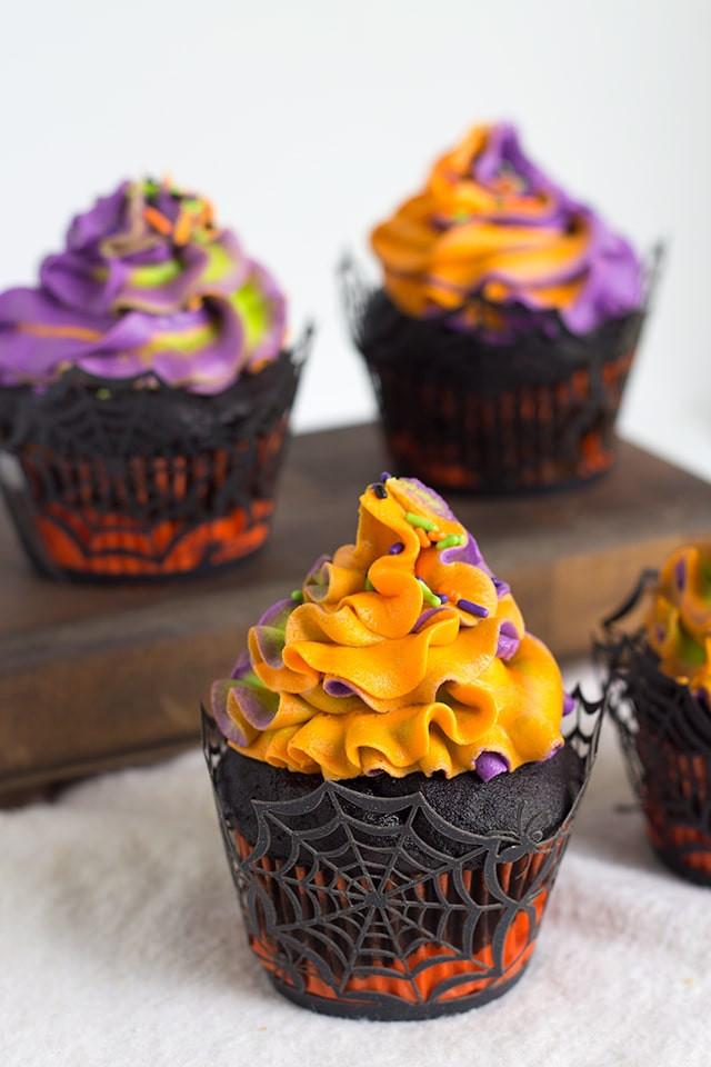 Recipe For Halloween Cupcakes  Halloween Swirled Cupcakes