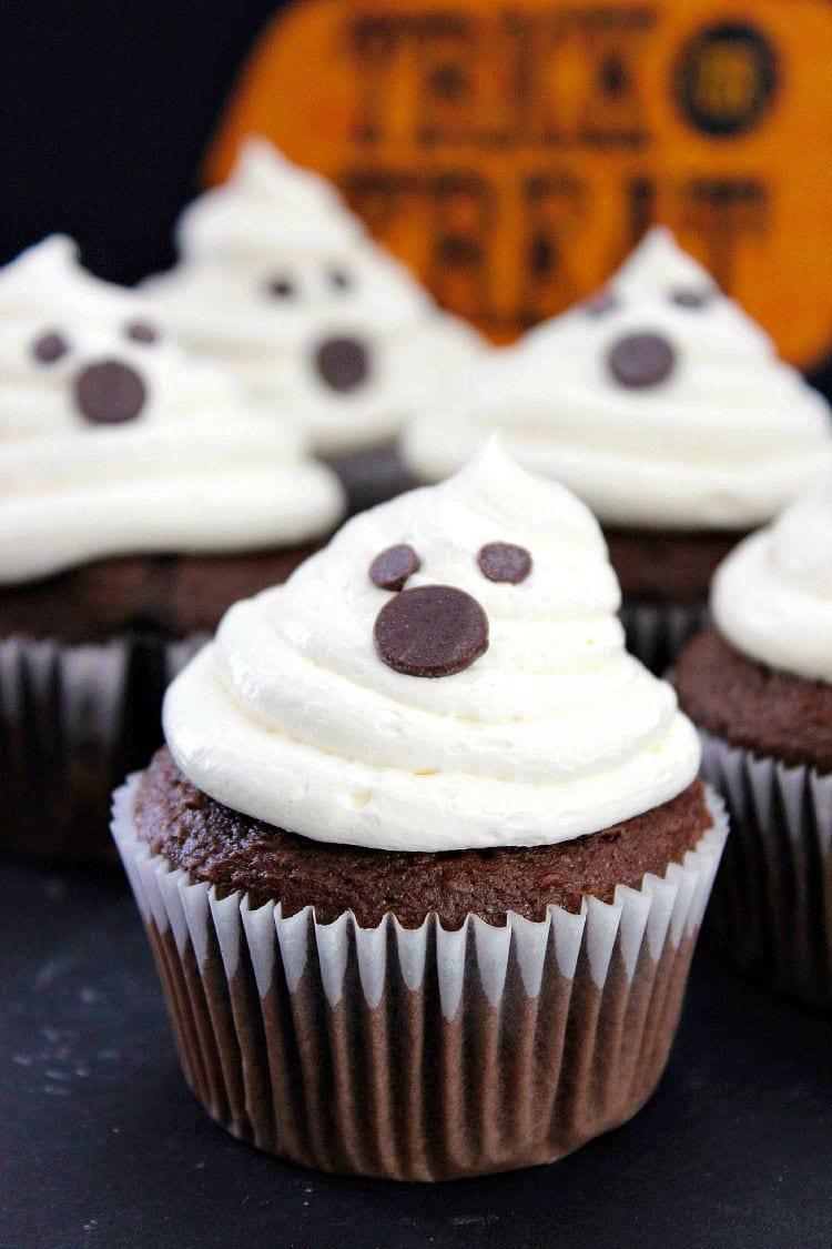 Recipe For Halloween Cupcakes  Halloween Ghost Cupcakes Recipe