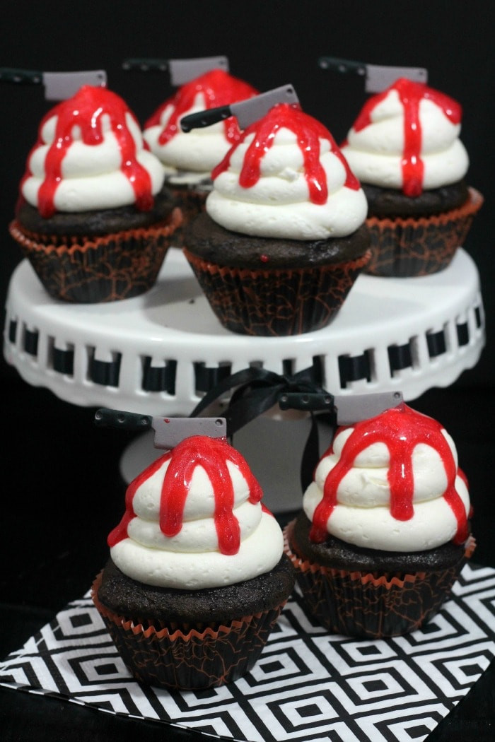 Recipe For Halloween Cupcakes  Bloody Knife Halloween Cupcakes Recipe