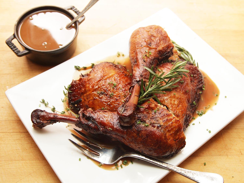 Recipe For Thanksgiving Turkey  The Food Lab Red Wine Braised Turkey Legs