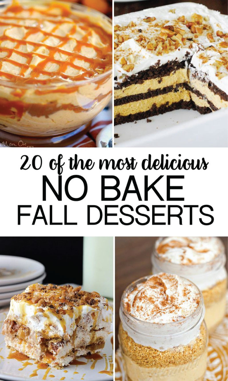 Recipes For Fall Desserts  No Bake Fall Desserts