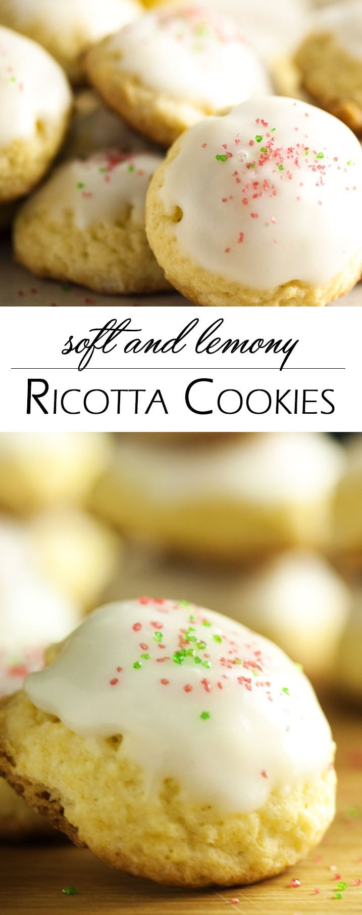 Ricotta Christmas Cookies  Soft and Lemony Ricotta Cookies Just a Little Bit of Bacon