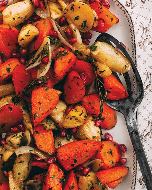 Roasted Fall Root Vegetables  Simple Roasted Root Ve ables with Maple Syrup & Olive