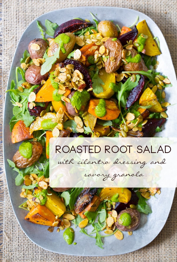 Roasted Fall Root Vegetables  Roasted Root Ve ables Salad A Spicy Perspective