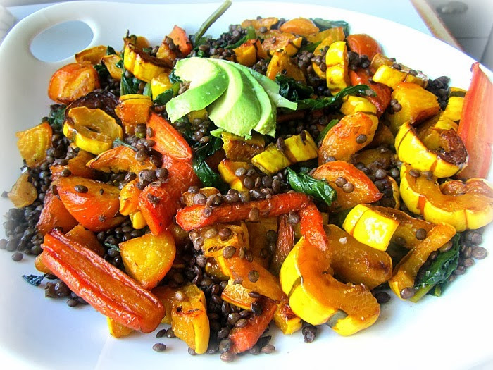 Roasted Fall Root Vegetables  Fall Salad Lentils & Roasted Root Ve ables