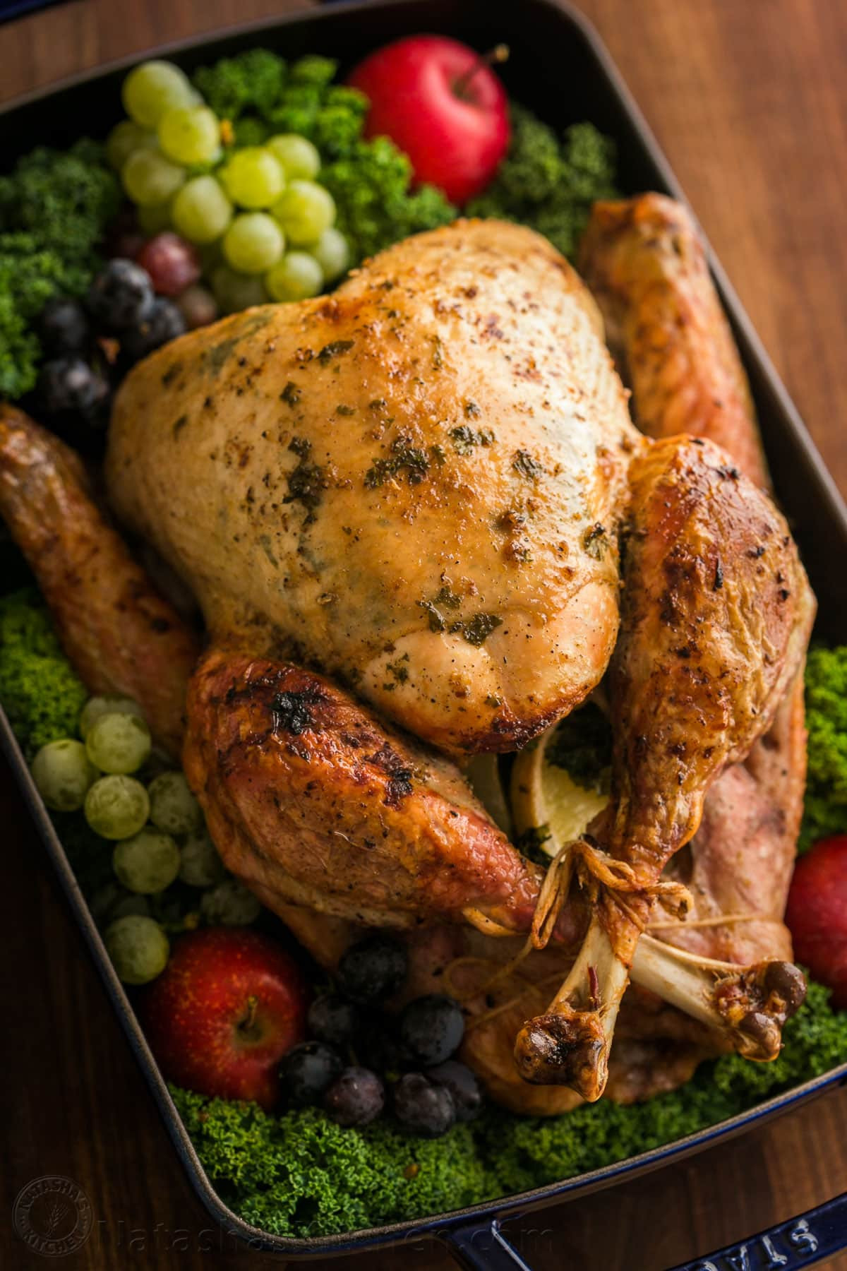 Roasted Thanksgiving Turkey  Thanksgiving Turkey Recipe VIDEO NatashasKitchen