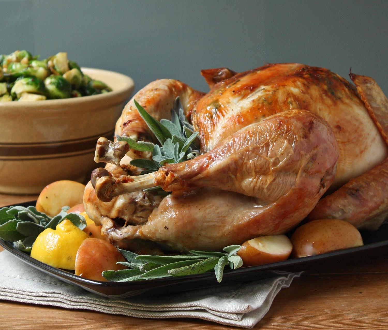 Roasted Thanksgiving Turkey  Easy Roasted Turkey w Sage Butter