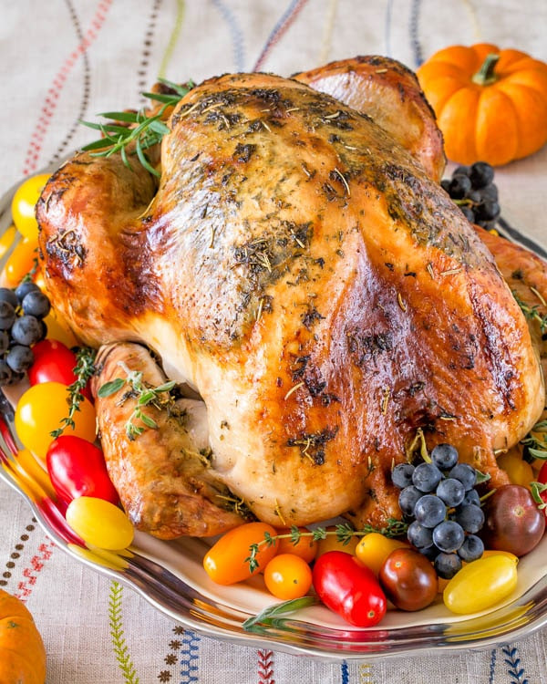 Roasted Thanksgiving Turkey  Super Juicy No Brine Roast Turkey Video Sweet & Savory